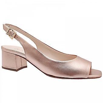 Peter Kaiser Gloria Gold Low Heel Sandal