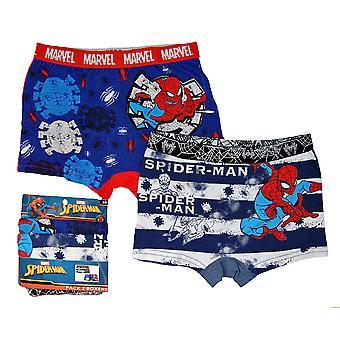set van 2 Boxer onderbroeken Spider-man-blauw gestreepte Spiderman