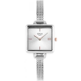 Opex OPW053 Watch - MINI SQUARE Silver Steel Bracelet