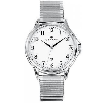 Watch certus 616218-hopea teräs valkoinen Dial miehet