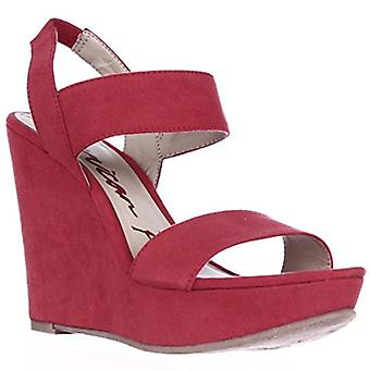 AR35 Audria Platform Wedge Slingback Sandals - Berry, 5.5 M US