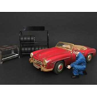 Mechaniker Tony Aufblasen Reifen Figur für 1:24 Maßstab Modelle von American Diorama
