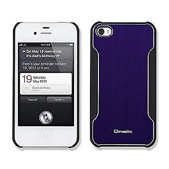 Qmadix Snap-On Face Plate for Apple iPhone 4 - Metalix Blue