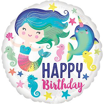 Anagram 18 in Happy Birthday Sea Life pyöreä foliopallo