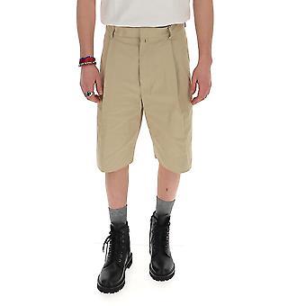 Maison Flaneur 20smupa120tc127beige Men's Beige Cotton Shorts