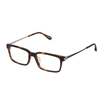 Dunhill VDH078 09AJ Shiny Brown Havana Glasses