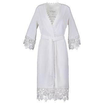 Vossen 141728-030 Women's Blanche White Cotton Dressing Gown Robe