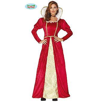 Vestido de traje de la reina Reina traje damas rojo