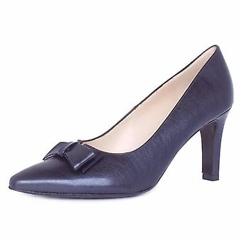 Peter Kaiser Tanja Women's Dressy Court Shoes In Brushed Effect Navy Leather