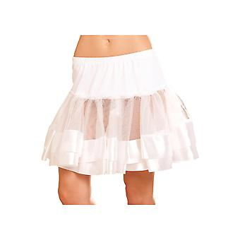 Satin Trimmed Nylon Petticoat Tutu Skirt Costume Accessories