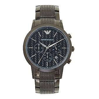 Armani Watches Ar2505 Textured Black Stainless Steel Men's Watch