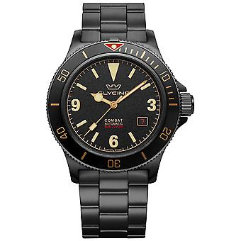 Combat Vintage Analog Men's Automatic Watch with GL0290 Stainless Steel Bracelet