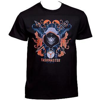Taskmaster ristissä aseet Black Widow Movie T-paita