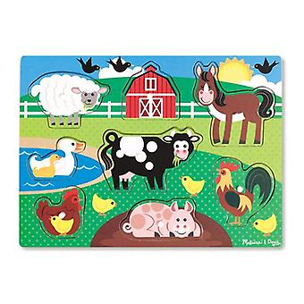 ميليسا آند دوغ الوتد الخشبي لغز-مزرعة الحيوانات