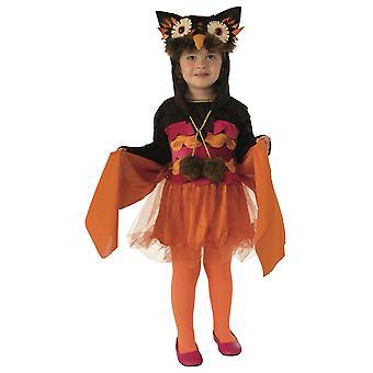 Hoot Pöllö Lintu Villi eläin Jungle Halloween Kirja viikko pukeutua tyttöjen puku
