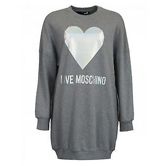 Love Moschino Metallic Heart Sweat Dress