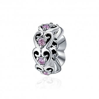 Sterling Silver Romantic Spacer With Zirconia Stones - 5565