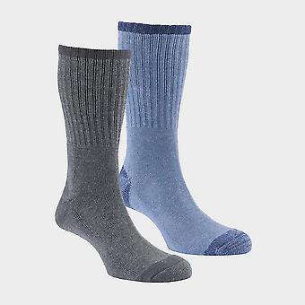 New Hi-Gear Men's Walking Socks (2 Pair Pack) Black