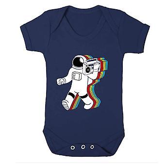 Reality glitch funky spaceman kids babygrow