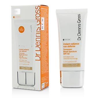 Instant radiance sun defense sunscreen spf 40 light medium 208761 50ml/1.7oz