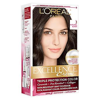 L'oreal excellence creme hair kit, natural black, 1 ea