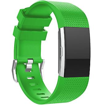 Replacement Wristband Bracelet Strap Band for Fitbit Charge 2 Classic Buckle[Green,Large] BUY 2 GET 1 FREE