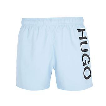 HUGO Abas Grande Logotipo Light Blue Swim Shorts