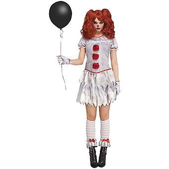 Kadın Seksi Evil Circus Palyaço Kostüm