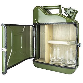 Minibar, Vintage Petrol Can - Green