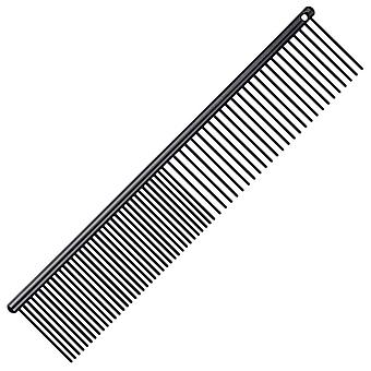 Groom Professional Black Anti Static Fine/Coarse Pet Grooming Comb, 20cm