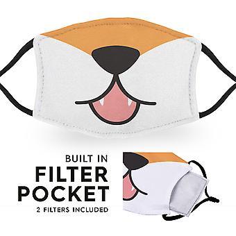 Fox Mouth - Herbruikbare gezichtsmaskers voor volwassen doek - 2 filters inbegrepen