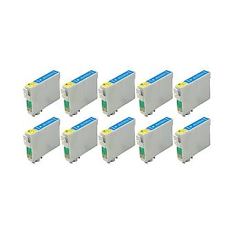 RudyTwos 10x Replacement for Epson Owl Ink Unit Cyan Compatible with Stylus Photo 79, 1400, 1410, 1500W, P50, PX650, PX660, PX700W, PX710W, PX720WD, PX730WD, PX800, PX800FW, PX810FW, PX820FWD, PX830FW