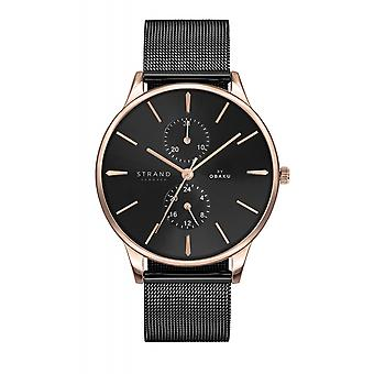 Strand By Obaku S703GMVBMB Beaufort-Night Black Mesh Wristwatch