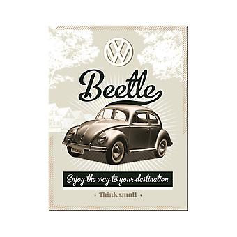 VW Beetle Nostalgic Metal Magnet - Cracker Filler Gift