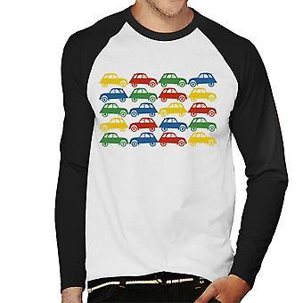 Citro n 2CV Vintage Multi Farvemønster Mænd's Baseball langærmet T-shirt