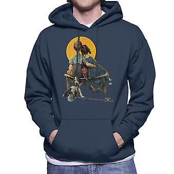 The Saturday Evening Post Norman Rockwell Sunset 1926 Cover Men's Hooded Sweatshirt