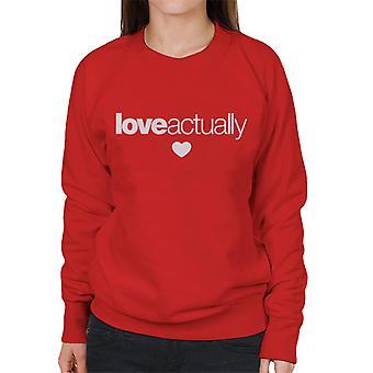 Love Actually Heart Logo Women's Sweatshirt