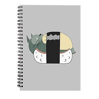 Totoro Sushi Studio Ghibli Cuaderno Espiral