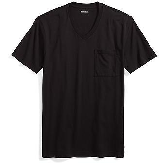 "Goodthreads Men's ""The Perfect V-Neck T-Shirt"" Short-Sleeve Cotton, Black, Large"