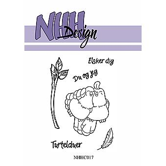NHH Design Bird Couple Clear Stamps