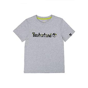 T-shirt Timberland Kids Grey Short Sleeve