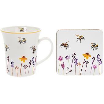 Tuin Bumble Bee Mok & Coaster Set - Boxed Cadeau