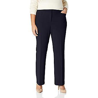 Lark & Ro Frauen's Plus Größe Bootcut Hose Hose: kurvige Passform, Marine, 32W