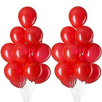 24PCS Round Latex Balloons Party Decor Red 34x22cm