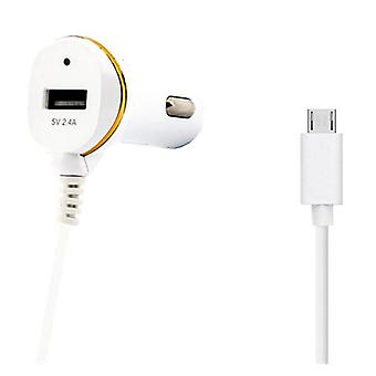 2 Pack, Car Charger USB Micro USB White