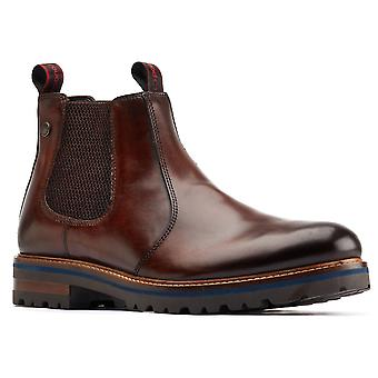 قاعدة لندن رجال هادريان الجلود سحب على أحذية تشيلسي