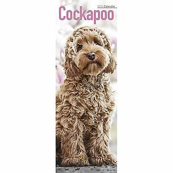 Otter House 2021 Slim Calendar-cockapoo