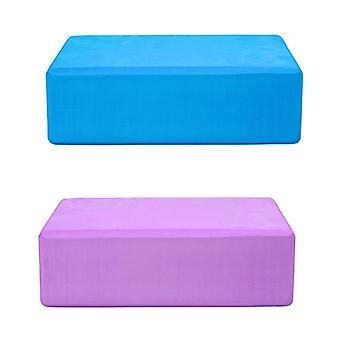Ganvol Set of 2 High Density Yoga Bricks 23x15x7.5cm, 200g each, 1 Blue & 1 Purple