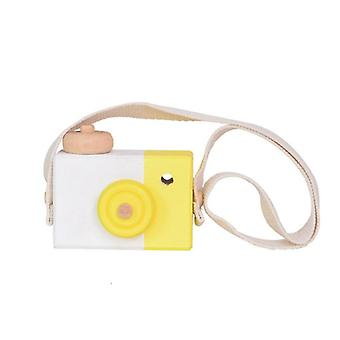 Cute Wooden Camera Block Toys Kids Gift- 9.5x6x3cm Room Decor Furnishing Articles Ornament Photography