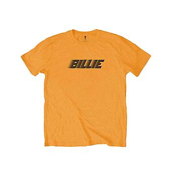 Billie Eilish Kids T Shirt Racer Logo & Blohsh Official Orange (Ages 5-14 yrs)